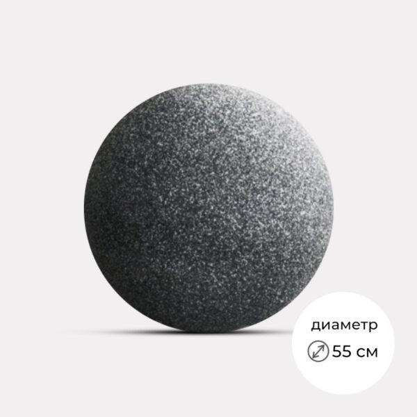 """Вазон для цветов """"Шар"""" черный - ИЕСА СТРОЙ"""
